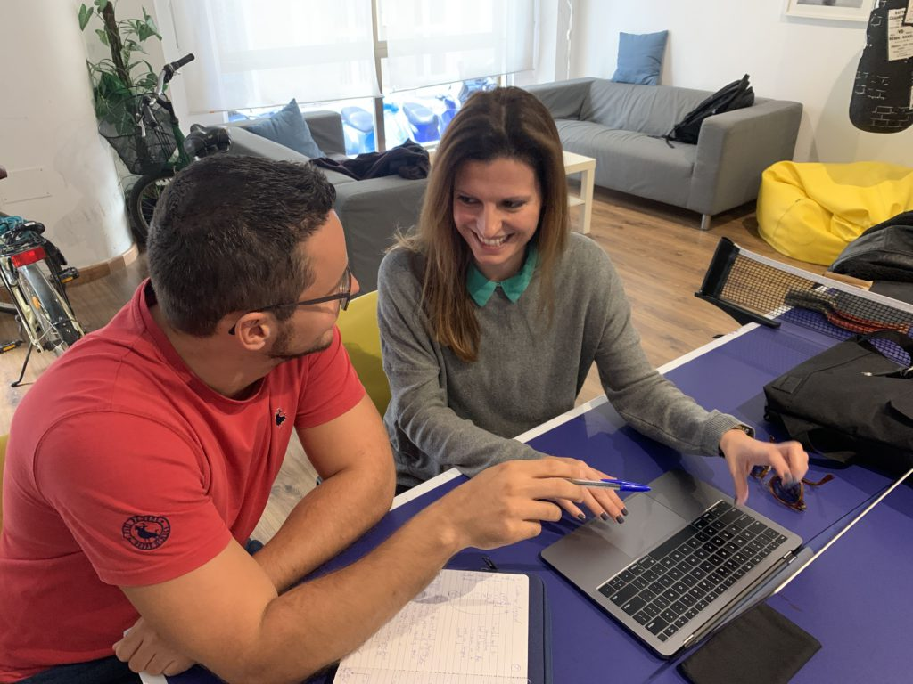 Olga and Ben at The Living Room Coworking