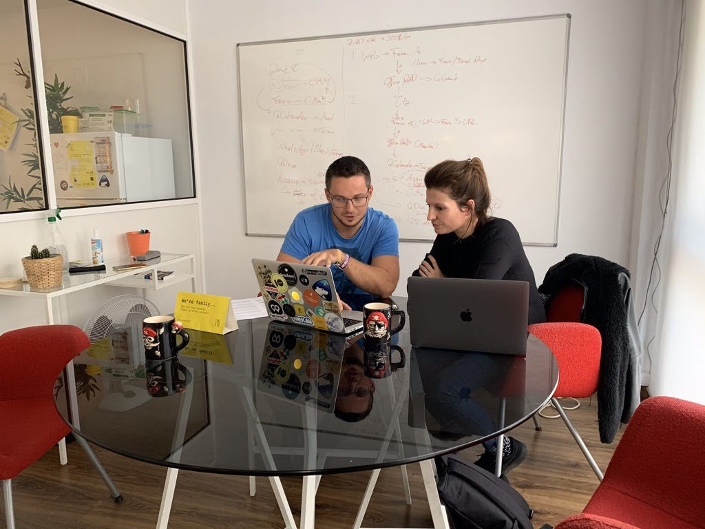 Olga and Ben again at The Living Room Coworking